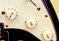 wyszczególnia gitarę elektryczną Obrazy Stock