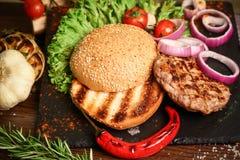 Wyszczególnia hamburger Obraz Royalty Free