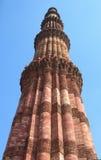 wyszczególnia kamieniarstwa qutub minar pomnikowego Obraz Stock
