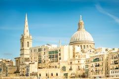 Wyszczególnia pocztówkę stary grodzki los angeles Valletta - kapitał Malta Obrazy Royalty Free