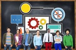 Wyszukiwarka optymalizacja technologii sieci Online pojęcie Zdjęcie Stock