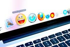 wyszukiwarki ikon internetów goniec Yahoo Zdjęcia Royalty Free