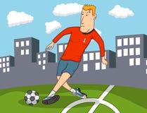 wyszukuje kreskówkę wyszczególniającą czuje swobodnie gracz inną piłkę nożną pracy Obrazy Stock