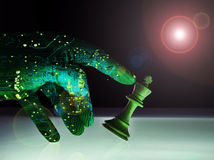 Wyższy Sztucznej inteligenci Wining Szachowy pojęcie Obraz Royalty Free