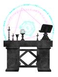 wytłaczać wzory czarownicy Fotografia Royalty Free