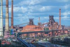 Wytapianie piec w Duisburg, Niemcy Obrazy Royalty Free