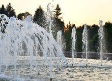 Wytryśnięcie woda fontanna obrazy royalty free