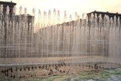 Wytryśnięcie woda fontanna obraz stock