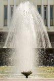 Wytryśnięcie woda fontanna Pluśnięcie woda w fontannie zdjęcia stock