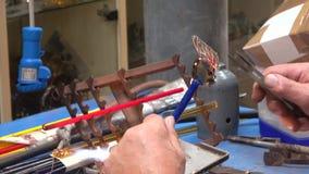 Wytwórca szkło ryba w jeden warsztaty Murano Wenecja zdjęcie wideo