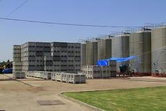 Wytwórnia win Santa Cruz Chile zdjęcia stock