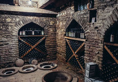 Wytwórnia win w Sighnaghi Zdjęcia Royalty Free