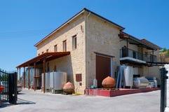 Wytwórnii win Ktima Gerolemo wytwórnia win & winnicy, Omodos, Cypr, Obrazy Stock