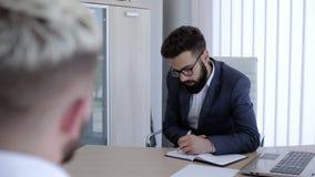Wywiad dla pracy zdjęcie wideo