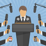 Wywiad konferenci prasowej pojęcie zdjęcia stock