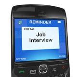 wywiadu akcydensowy przypomnienia smartphone Obraz Royalty Free