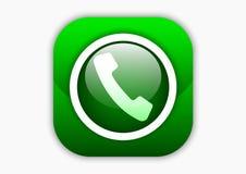 Wywoławczego mobilnego ikona projekta zielony kolor Obraz Stock