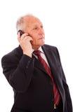 wywoławczy biznesmena senior Obraz Stock