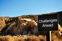 Wyzwania Naprzód Zdjęcie Stock