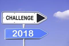 Wyzwanie 2018 Obrazy Stock
