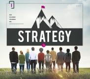 Wyzwanie celu ulepszenia strategii pojęcie fotografia stock