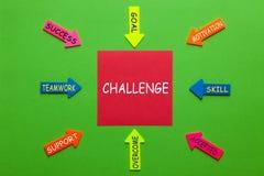 Wyzwanie diagrama pojęcie fotografia royalty free