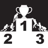 Wyzwanie rywalizacja dla zwycięzcy i cel ilustracji
