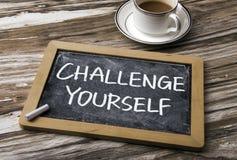 wyzwanie yourself obraz stock