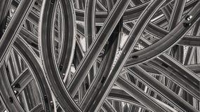 Wzór wiele drogi z samochodami obraz stock