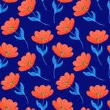 Wzór z jaskrawymi tulipanami royalty ilustracja