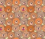 Wzór śmieszni niedźwiedzie Zdjęcie Stock
