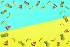 Wzór świeża lato cukierki owoc dla wakacyjnego pojęcia mieszkania nieatutowego Zdjęcie Stock