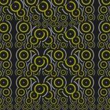 Wzór żółci okręgi Obrazy Royalty Free