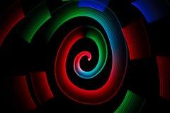 wzór abstrakcjonistyczna rozjarzona stubarwna spirala Obrazy Stock