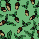 Wzór acorns Obraz Stock