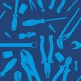 Wzór błękitni narzędzia Ilustracja Wektor