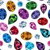 Wzór barwioni gemstones Ilustracji
