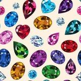 Wzór barwioni gemstones Ilustracja Wektor