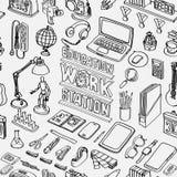 Wzór Bezszwowy edukaci stacja robocza ilustracji