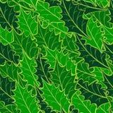 wzór bezszwowy holly liści ilustracji