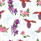wzór bezszwowy kwiat Obrazy Royalty Free
