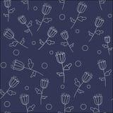 wzór bezszwowy kwiat Obrazy Stock