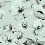 wzór bezszwowy kwiat royalty ilustracja