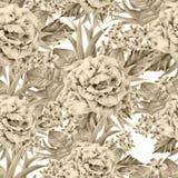 wzór bezszwowy kwiat Liście Wzrastał beak dekoracyjnego latającego ilustracyjnego wizerunek swój papierowa kawałka dymówki akware Fotografia Royalty Free