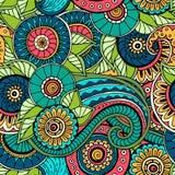 wzór bezszwowy kwiat Ozdobna zentangle tekstura Zdjęcie Stock