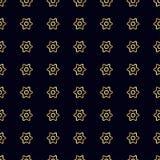 wzór bezszwowy kwiatek złota Fotografia Royalty Free