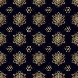 wzór bezszwowy kwiatek złota Fotografia Stock