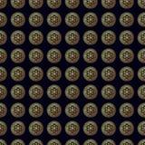 wzór bezszwowy kwiatek złota Obrazy Royalty Free