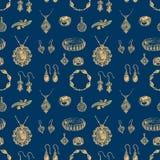 Wzór biżuteria Obrazy Royalty Free