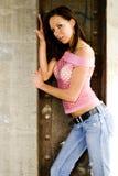 wzór brunetki mody Fotografia Stock